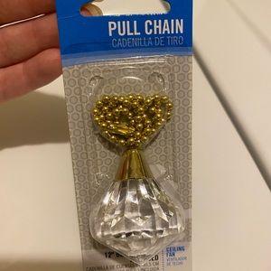 Diamond ceiling fan pull chain